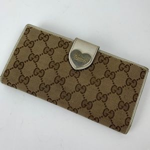 Gucci Guccisama Long Heart Wallet